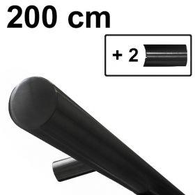 zwart design trapleuning 200 cm